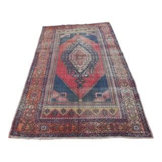 Turkish Antique Wool Rug - 5′ × 8′8″
