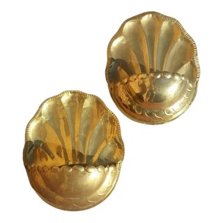 Vintage Brass Wall Pockets - A Pair