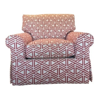 Contemporary Geometric Print Armchair