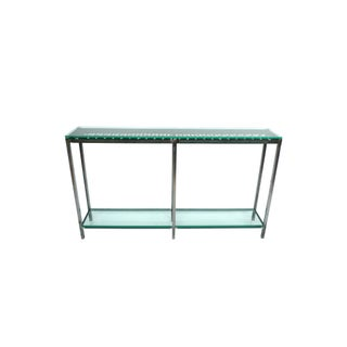 Custom-Made Iron & Glass Console Table