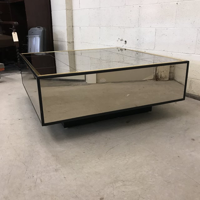 Smoke Bronze Mirror Cube Coffee Table - Image 3 of 11