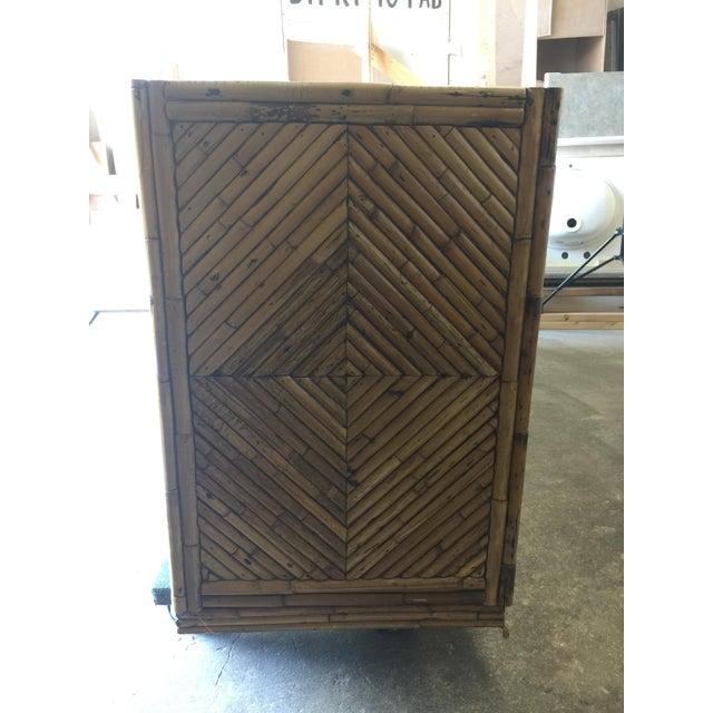Vintage Split Bamboo Display Cabinet - Image 8 of 11