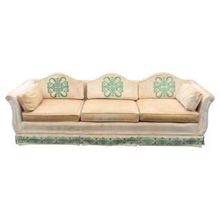 Vintage Highland House of Hickory Velvet Sofa