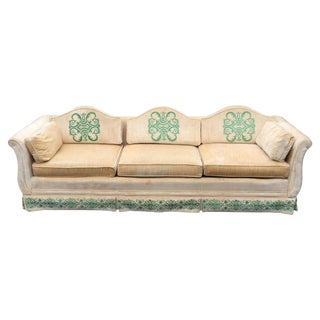 Vintage Highland House of Hickory Velvet Sofa