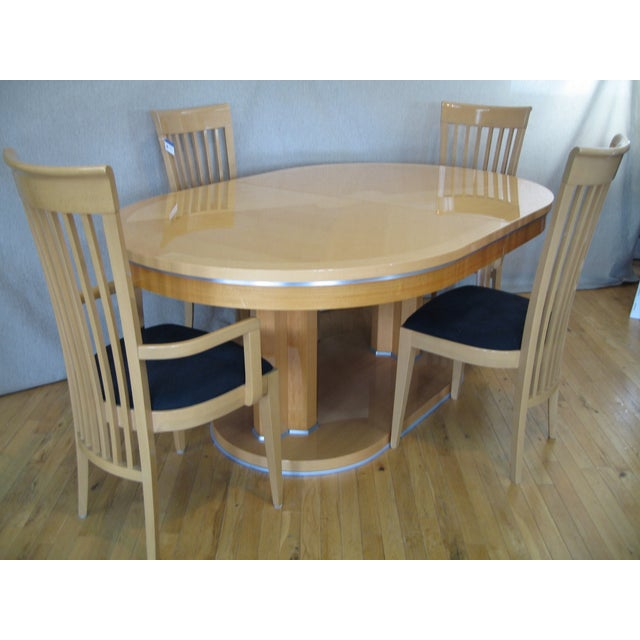 Contemporary Italian Dining Set With 8 Chairs - Image 2 of 4