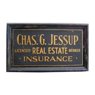 Chas. G. Jessup Gilded Sandpaper Sign