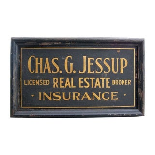 Chas. G. Jessup Gilded Sandpaper Sign
