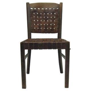 Jugendstil' Leather Strap Desk Chair