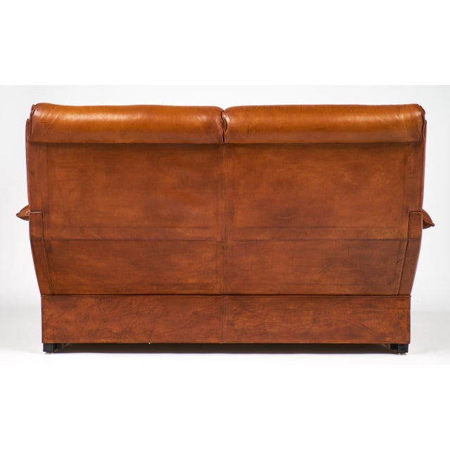 Modernist French Leather and Brass Sofa - Image 11 of 11