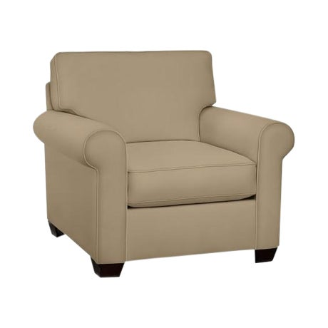 Image of Pottery Barn Tan Roll Armchair