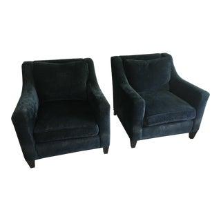Baker Navy Blue Berkley Chairs - A Pair