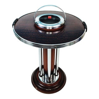 Art Deco Chrome Floor Ashtray Smoking Stand