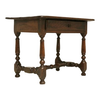 18th C Rustic French Farmhouse Oak Side Table