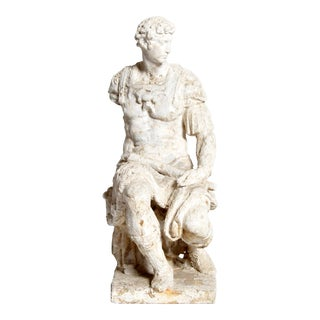 Garden Statue of a Seated Roman Soldier