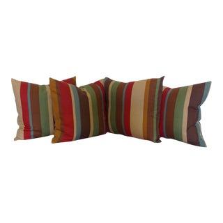 Custom Stripe Pillows - Set of 4