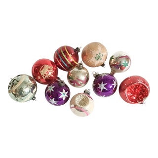 Vintage Christmas Ornament Collection - Set of 10