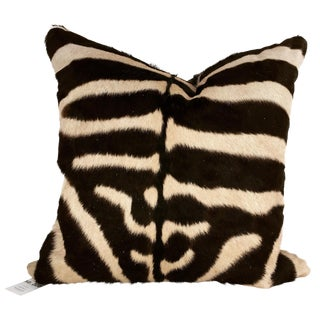 Double-Sided Zebra Hide Pillow, No. 300
