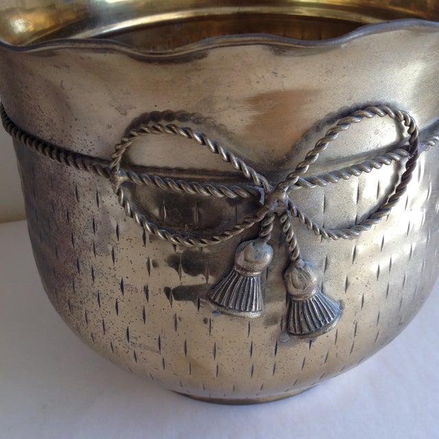 Vintage Etched Metal Brass Vessel - Image 8 of 9