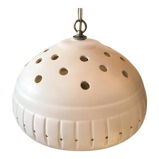 Vintage White Ceramic Pendant