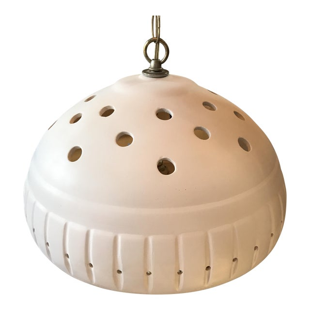 Image of Vintage White Ceramic Pendant