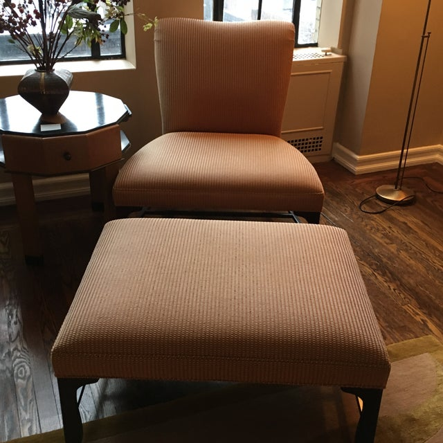 Image of Matching Baker Chairs and One Ottoman - 3