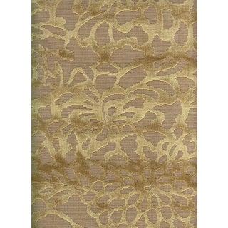 Lee Jofa Foglia Floral Velvet Fabric in Camel - 2.375 Yards
