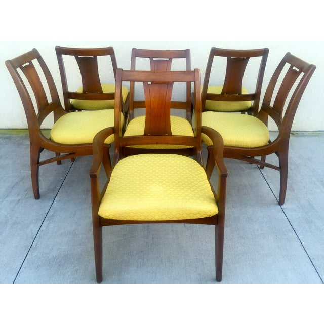 Mid Century Mod Curved Tailback Dining Chairs - 6 - Image 2 of 11