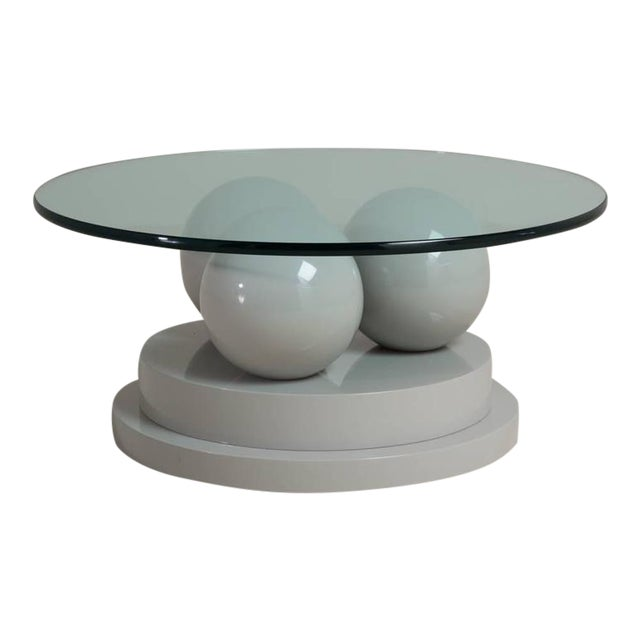 Post Modernist Grey Lacquered Coffee Table, 1980s - Image 1 of 7