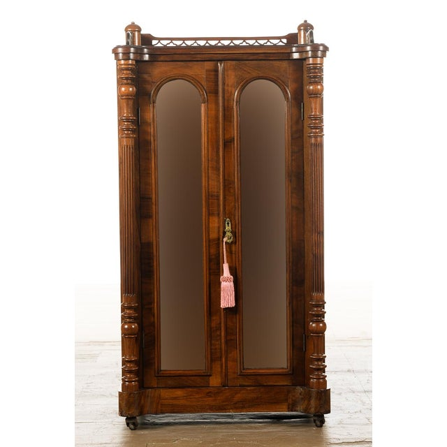 Antique Carved Mahogany Music Cabinet - Image 3 of 10