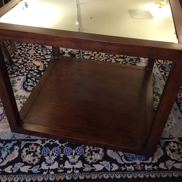 Image of Custom Mirror Topped Side Table