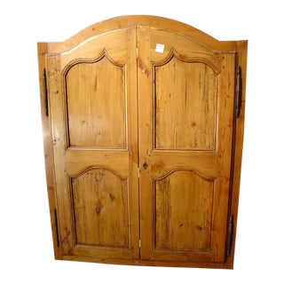 Late 1800's Small French Cabinet Doors - A Pair