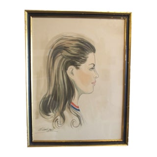 1960s Framed Vintage Portrait