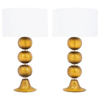 "Murano ""Avventurina"" Glass Customizable Table Lamps"