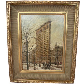 Flatiron Building Oil Painting