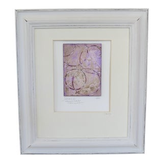 """Infinity, V.I"" Lilac and Silver Original Framed Painting"
