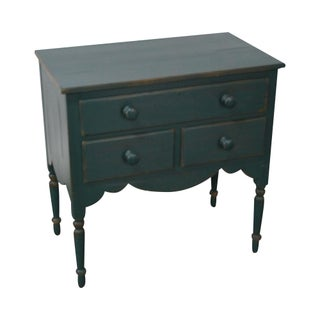 Lexington Green Painted Country Style Bedside Table Nightstand