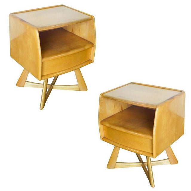 Heywood Wakefield M778 Sculptura Nightstand - Pair - Image 1 of 7