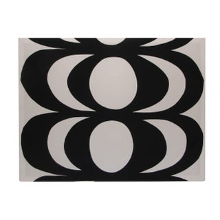Black & White Geometric Fabric Panel