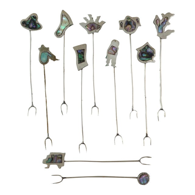 Vintage Alpaca Cocktail Forks - Set of 11 - Image 1 of 10