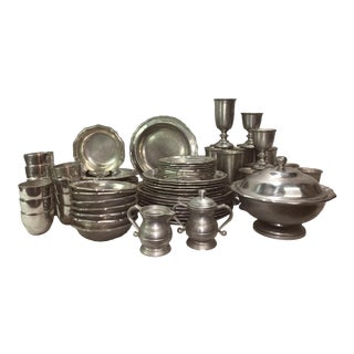 Queen Anne Pewter Dinnerware