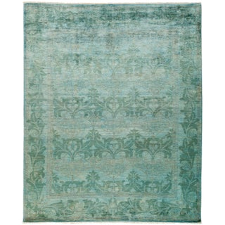 New Over-Dyed Hand-Knotted Rug - 8′1″ × 9′10″