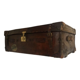 English Brown Leather Suitcase