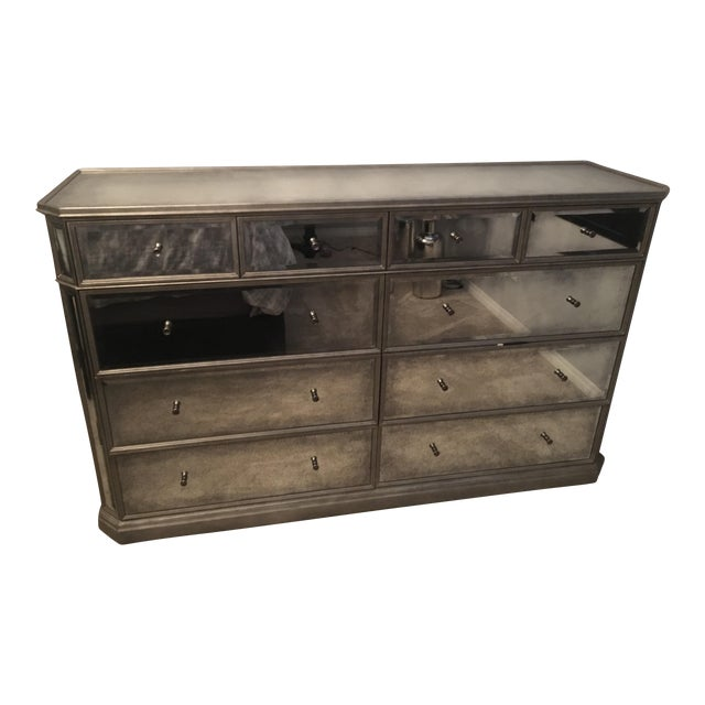 1930s French Mirrored 8-Drawer Low Chest - Image 1 of 5