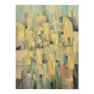 Cubist Cityscape Signed Original Painting