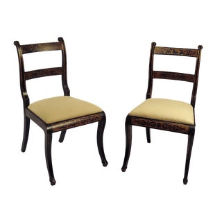 Regency Painted Side Chairs - A Pair