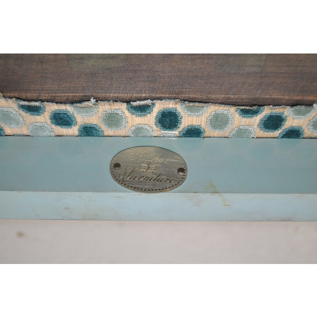 1960s Baker Furniture Upholstered Chinoiserie Seat - Image 8 of 8