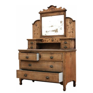 Antique Sarreid LTD Shanghai Ash Dresser with Mirror