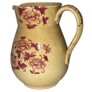 Vintage Floral Ceramic Jug