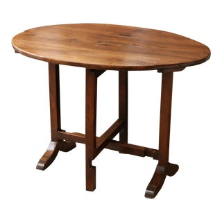 19th Century Walnut French Wine Table