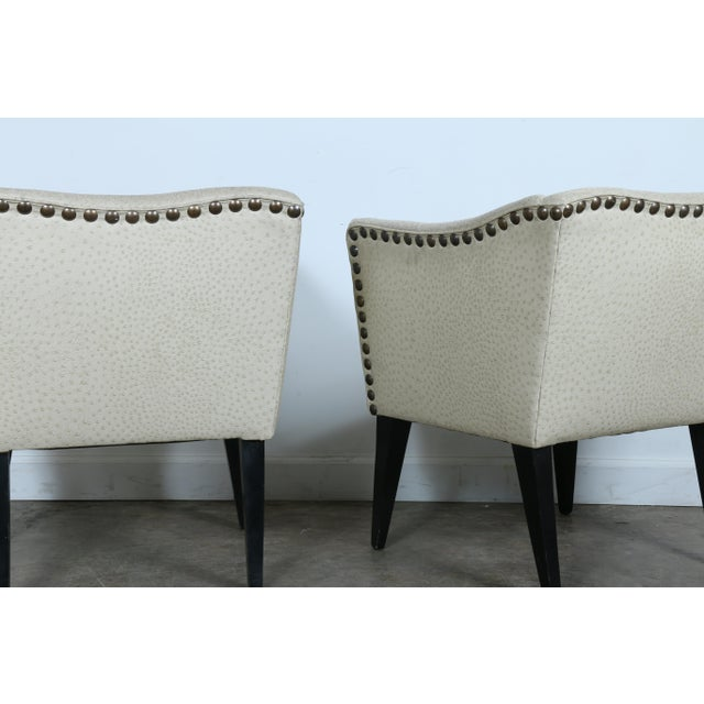 Ostrich Style Vinyl Chairs And Ottoman Set Of 3 Chairish